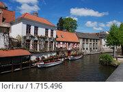 Купить «Брюгге. Пристань», фото № 1715496, снято 10 мая 2010 г. (c) Maria Kuryleva / Фотобанк Лори
