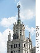 Купить «Высотка на Котельнической набережной. Москва», фото № 1720424, снято 22 мая 2010 г. (c) Екатерина Овсянникова / Фотобанк Лори