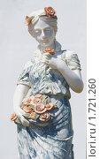 Купить «Скульптура красивой девушки из мрамора.Город Почеп», фото № 1721260, снято 22 мая 2010 г. (c) Александр Шилин / Фотобанк Лори