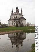 Церковь и отражение в пруду. Суздаль (2010 год). Стоковое фото, фотограф Константин Мартынов / Фотобанк Лори