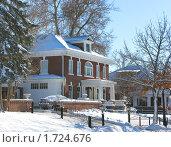 Купить «Двухэтажный особняк зимой», фото № 1724676, снято 25 декабря 2007 г. (c) Валентина Троль / Фотобанк Лори