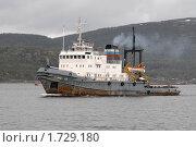 Купить «Морской буксир», фото № 1729180, снято 23 мая 2010 г. (c) Вячеслав Палес / Фотобанк Лори