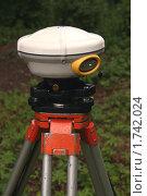 Антенна спутникового геодезического прибора. Стоковое фото, фотограф Павел Красихин / Фотобанк Лори