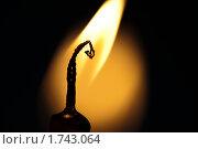 Купить «Горящая свеча. Макро.», фото № 1743064, снято 28 июля 2009 г. (c) Антон Балаж / Фотобанк Лори