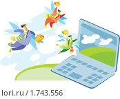 Купить «Привлечение клиентов через интернет», иллюстрация № 1743556 (c) Елисеева Екатерина / Фотобанк Лори