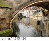 Водяная деревянная мельница на реке Чертовка в г.Прага, Чехия (2008 год). Стоковое фото, фотограф Марков Николай / Фотобанк Лори