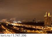 Купить «Вид на Кутузовский проспект ночью», фото № 1747396, снято 8 марта 2010 г. (c) Сергей Шляев / Фотобанк Лори