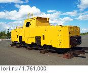 Купить «Электровоз шахтный К-14», фото № 1761000, снято 6 июня 2010 г. (c) Евгений Ткачёв / Фотобанк Лори