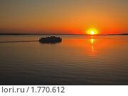 Вечер на Рыбинском водохранилище. Стоковое фото, фотограф Дмитрий Земсков / Фотобанк Лори