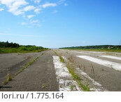 Купить «Взлётно-посадочная  полоса  на  заброшенном  аэродроме», фото № 1775164, снято 16 августа 2018 г. (c) Юлия  Лесина / Фотобанк Лори