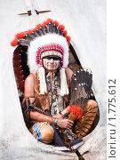 Купить «Индеец в яркой одежде», фото № 1775612, снято 13 июня 2010 г. (c) Евгений Захаров / Фотобанк Лори