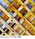 Купить «Деревянная решетка - каркас старой бетонной стены», фото № 1776388, снято 22 мая 2010 г. (c) pzAxe / Фотобанк Лори