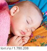 Ребенок спит. Стоковое фото, фотограф Евгений Григорьев / Фотобанк Лори