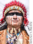 Купить «Индеец в яркой одежде», фото № 1782072, снято 13 июня 2010 г. (c) Евгений Захаров / Фотобанк Лори