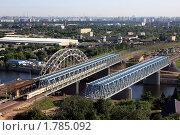Железнодорожные мосты через Москву-реку в районе Сабурово (2010 год). Стоковое фото, фотограф Lana / Фотобанк Лори