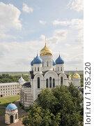 Купить «Вид с колокольни на  Спасо-Преображенский собор. Николо-Угрешский монастырь. Московская область», эксклюзивное фото № 1785220, снято 19 июня 2010 г. (c) stargal / Фотобанк Лори