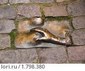 Купить «Мужская рука на женской груди (Скульптура в Амстердаме)», фото № 1798380, снято 8 августа 2007 г. (c) Сергей Кандауров / Фотобанк Лори