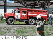 Купить «Развёртывание пожарной техники», эксклюзивное фото № 1800272, снято 10 июня 2010 г. (c) Free Wind / Фотобанк Лори