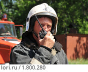 Пожарный (2010 год). Редакционное фото, фотограф Free Wind / Фотобанк Лори