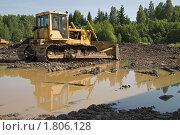 Купить «Болотный бульдозер ЧТЗ Т-170», фото № 1806128, снято 30 июня 2010 г. (c) Алексей Крылов / Фотобанк Лори