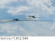Купить «Атака пары вертолетов Ми-24В», фото № 1812344, снято 12 июля 2008 г. (c) Сергей Буторин / Фотобанк Лори