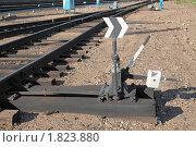 Железнодорожная стрелка. Стоковое фото, фотограф Игорь Долгов / Фотобанк Лори