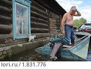 Купить «У затопленного дома», фото № 1831776, снято 26 июня 2010 г. (c) Free Wind / Фотобанк Лори