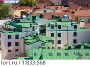 Купить «Зелено-коричневые крыши в Выборге», фото № 1833568, снято 10 июля 2010 г. (c) Александр Перченок / Фотобанк Лори