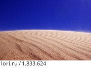 Песчаные волны и голубое небо. Стоковое фото, фотограф Игорь Соколов / Фотобанк Лори