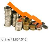 Купить «Деньги и график», фото № 1834516, снято 1 февраля 2009 г. (c) Алексей Романцов / Фотобанк Лори