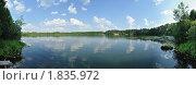 Легендарное озеро Светлояр, в котором скрылся град Китеж от врагов. Панорама. Стоковое фото, фотограф Сергей Сурнин / Фотобанк Лори