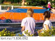 У фонтана. Стоковое фото, фотограф Шадров Юрий / Фотобанк Лори