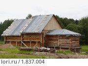 Строительство деревянного дома. Стоковое фото, фотограф Павел Спирин / Фотобанк Лори