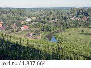 Вид с горы на поселок и окрестные леса. Стоковое фото, фотограф Валентин Никитин / Фотобанк Лори