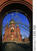 Купить «Ворота Знаменского собора. Кемерово», эксклюзивное фото № 1838160, снято 9 апреля 2010 г. (c) Александр Павлов / Фотобанк Лори