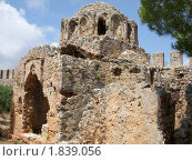 Старая Византийская церковь в Аланской Крепости (2010 год). Стоковое фото, фотограф Татьяна Крамаревская / Фотобанк Лори