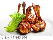 Купить «Жареные куриные крылышки», фото № 1843804, снято 23 апреля 2010 г. (c) Коваль Василий / Фотобанк Лори