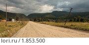 Купить «Дорога в горы», фото № 1853500, снято 14 августа 2009 г. (c) Тихонов Алексей Владимирович / Фотобанк Лори