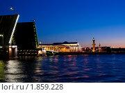 Купить «Развод мостов в Санкт-Петербурге, белые ночи», фото № 1859228, снято 3 июля 2010 г. (c) Алексей Ширманов / Фотобанк Лори