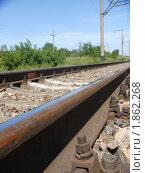 Железная дорога, рельсы. Стоковое фото, фотограф Светлана Бородатая / Фотобанк Лори