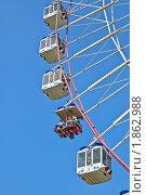Купить «Колесо обозрения (чертово колесо) на ВДНХ (ВВЦ). Фрагмент», эксклюзивное фото № 1862988, снято 16 июля 2010 г. (c) Алёшина Оксана / Фотобанк Лори