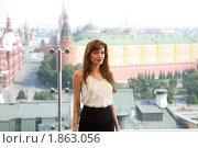 Купить «Анджелина Джоли позирует фотографам на фоне Кремля», фото № 1863056, снято 25 июля 2010 г. (c) Виктор / Фотобанк Лори