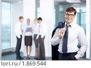 Купить «Успешный бизнесмен в офисе», фото № 1869544, снято 17 июня 2010 г. (c) Raev Denis / Фотобанк Лори