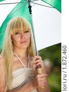 Девушка с зонтом. Стоковое фото, фотограф Дмитрий Смиренко / Фотобанк Лори