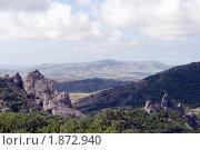 Купить «Красивый вид с горной дороги», фото № 1872940, снято 5 июля 2009 г. (c) Григорий Стоякин / Фотобанк Лори