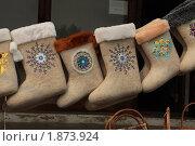 Купить «Суздаль: валенки», фото № 1873924, снято 29 июля 2010 г. (c) Николай Богоявленский / Фотобанк Лори