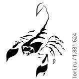 Силуэт скорпиона. Стоковая иллюстрация, иллюстратор Игорь Бахтин / Фотобанк Лори