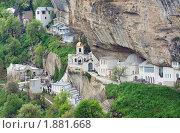 Купить «Успенский монастырь в скале, Чуфут Кале, Бахчисарай, Крым», фото № 1881668, снято 8 мая 2009 г. (c) Юрий Брыкайло / Фотобанк Лори