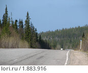 Кольский, дорога на север. Стоковое фото, фотограф Валентин Сурков / Фотобанк Лори