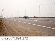 """Купить «Федеральная автомобильная дорога М2 """"Крым"""" в районе г.Подольска. Задымление», фото № 1891272, снято 8 августа 2010 г. (c) Цветков Виталий / Фотобанк Лори"""